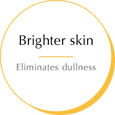 Brighter skin - Eliminates dullness