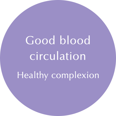 Blood Circulation: Good complexion
